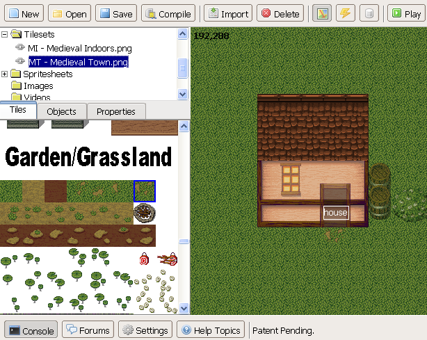 """6. If you don't want to limit yourself to ground or floor tiles, click the  """"Layers"""" button at the top menu. Select a higher layer to paste bushes,  trees, ..."""